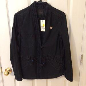 Scotch & soda Asian-inspired Navy blue jacket